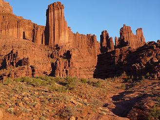 Site des Fisher Towers près de la ville de Moab