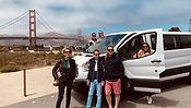 Séance photos avec nos clients face au Golden Gate de San Francisco