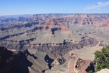 Vue en hélicoptère du Grand Canyon