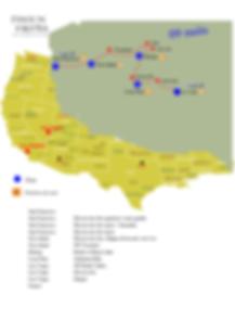 Carte circuit gold country et merveilles