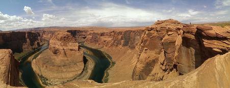 Gorge de horseshoe bend près de la ville de Page en Arizona