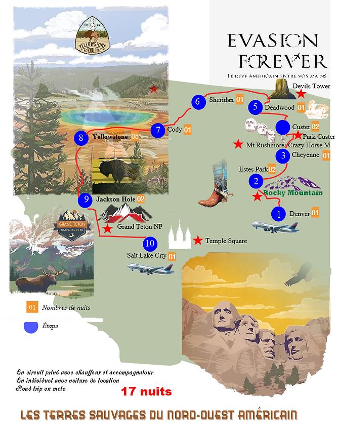 New Carte circuit les terres sauvages du