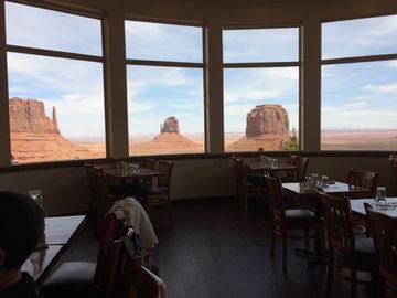 Vue du restaurant Monument Valley