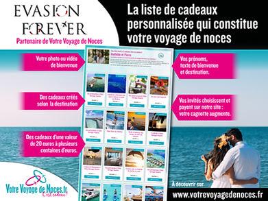 Evasion Forever partenaire de Voyage de noces