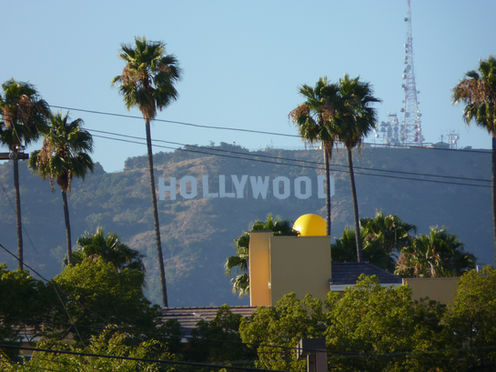 Vue des collines d'Hollywood