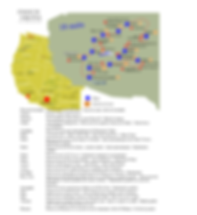 Carte circuit panoramas de l'Ouest Ameri