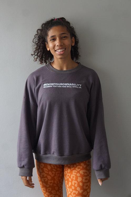 #KnowYourOwnAbility Oversized Jumper - Grey