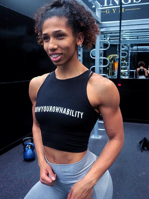 #KnowYourOwnAbility Crop Tops - Black