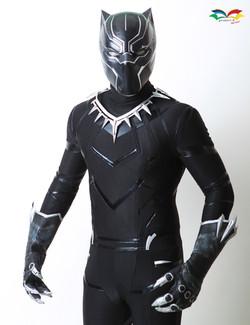 Black Panther costume front closeup