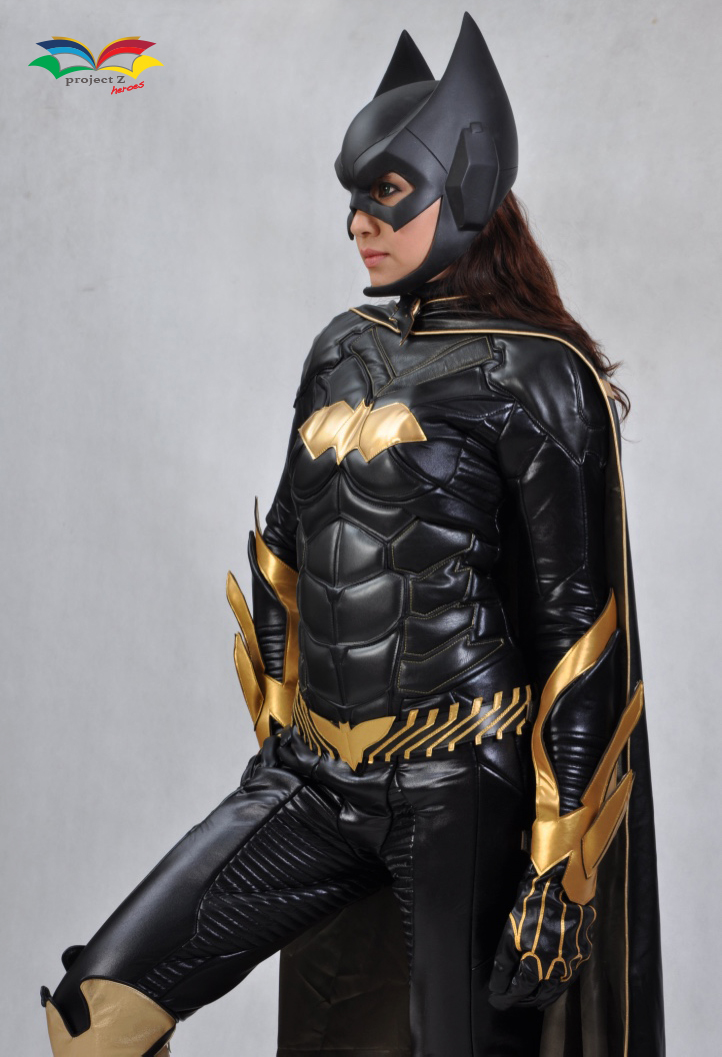 Batgirl costume side closeup