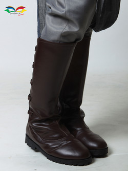Rey Star War costume boots closeup front