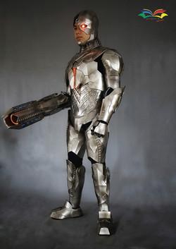 Cyborg costume fullbody with gun