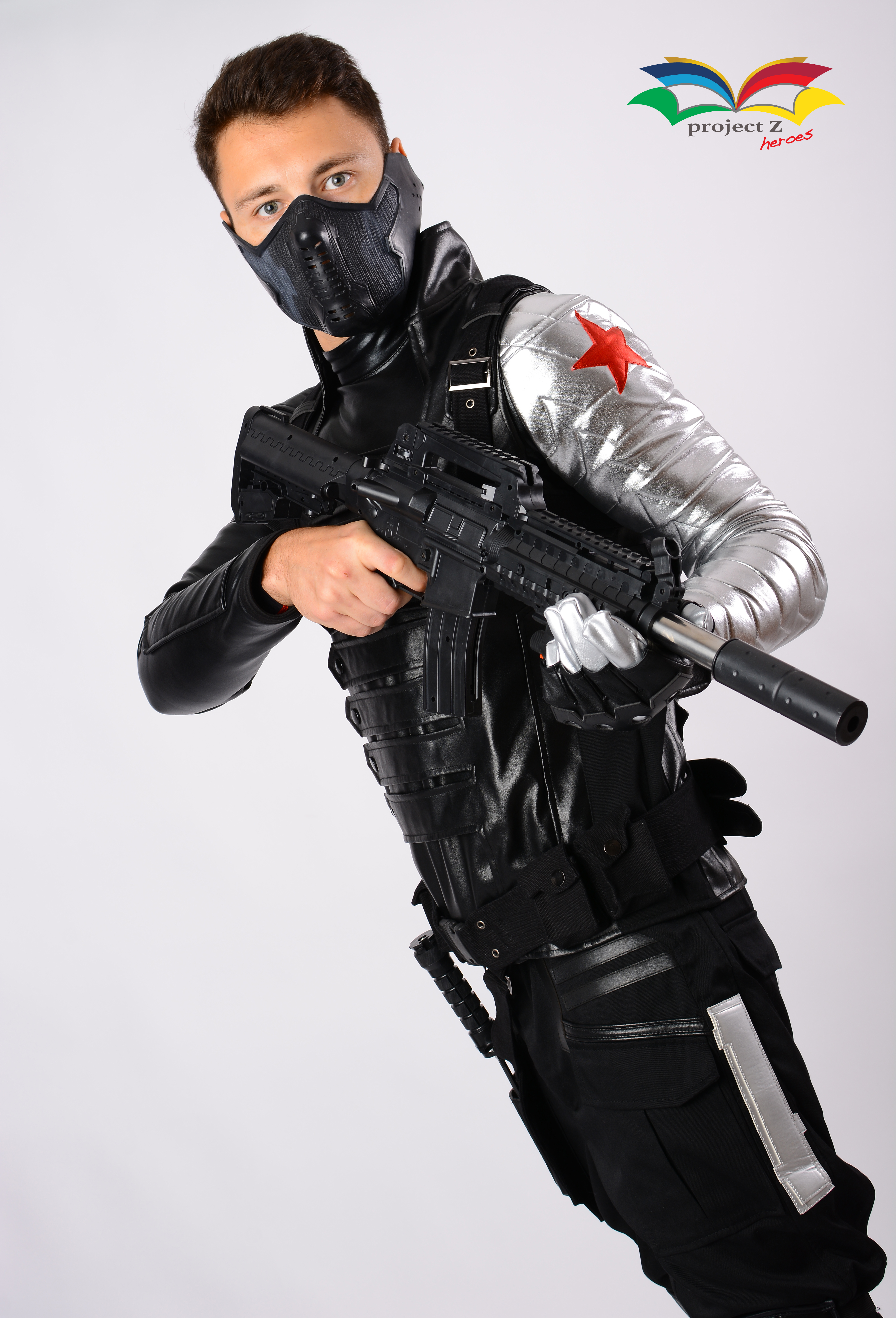 Winter Soldier costume halfbody