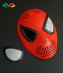 Spiderman costume faceshell