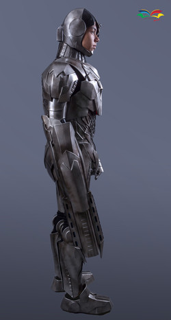 Cyborg costume sideway fullbody