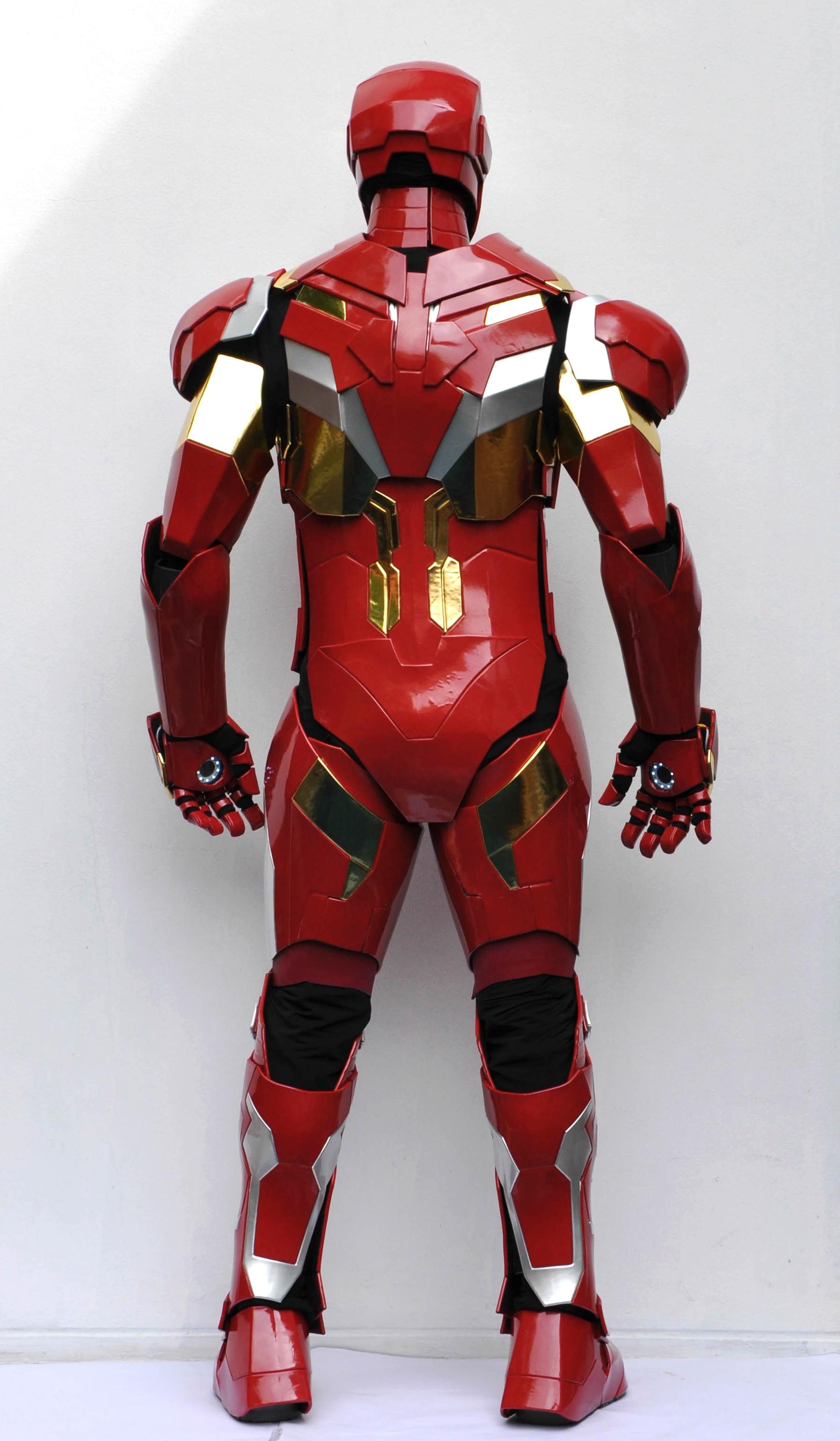Ironman costume backside