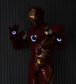 Ironman costume hand and eye light
