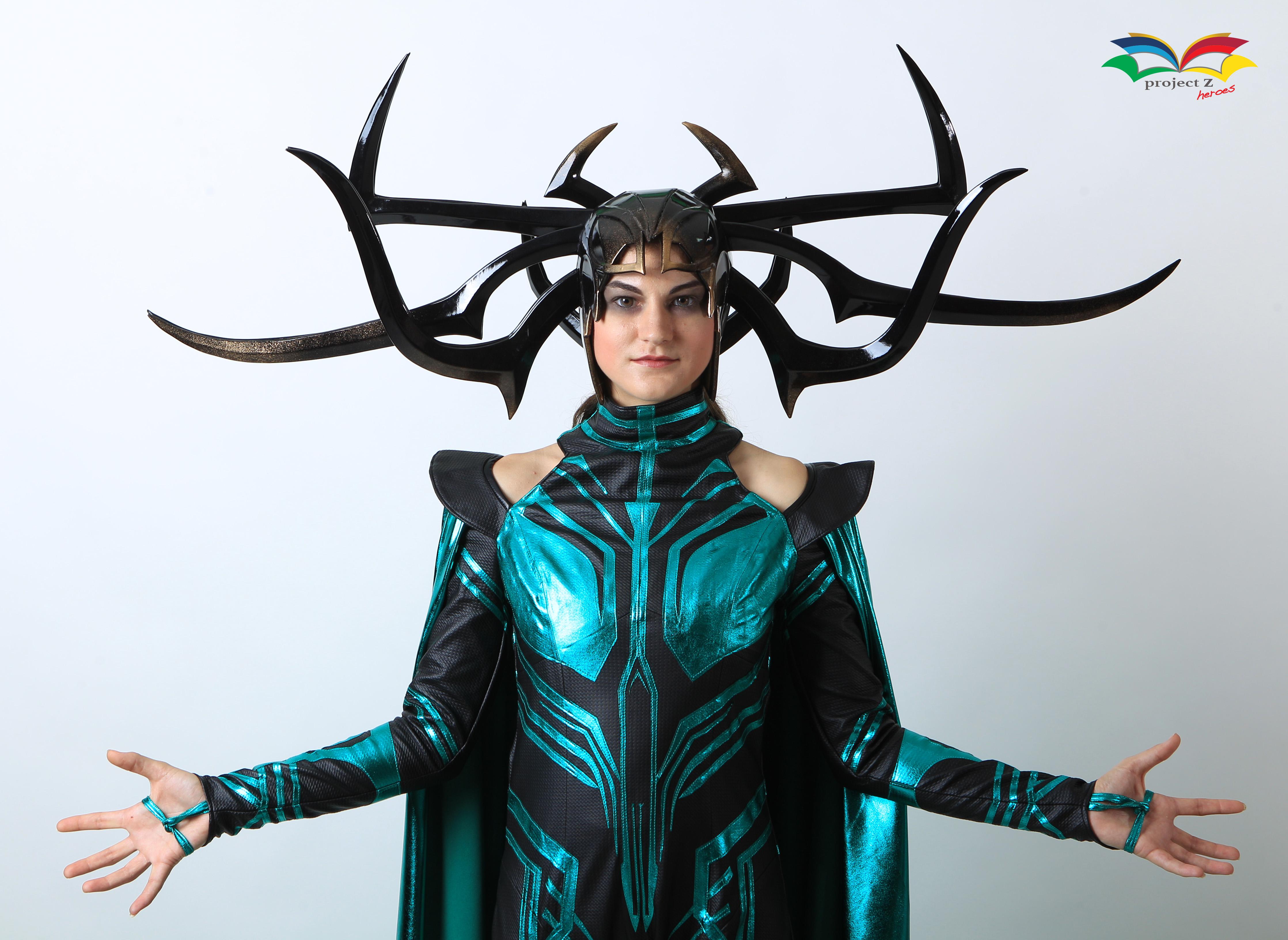 Hela costume front half body