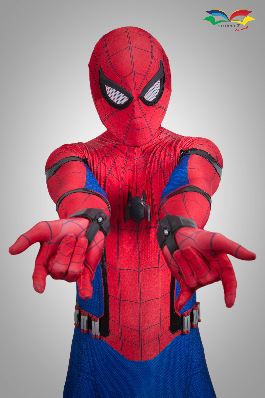 Spiderman homecoming costume closeup copy