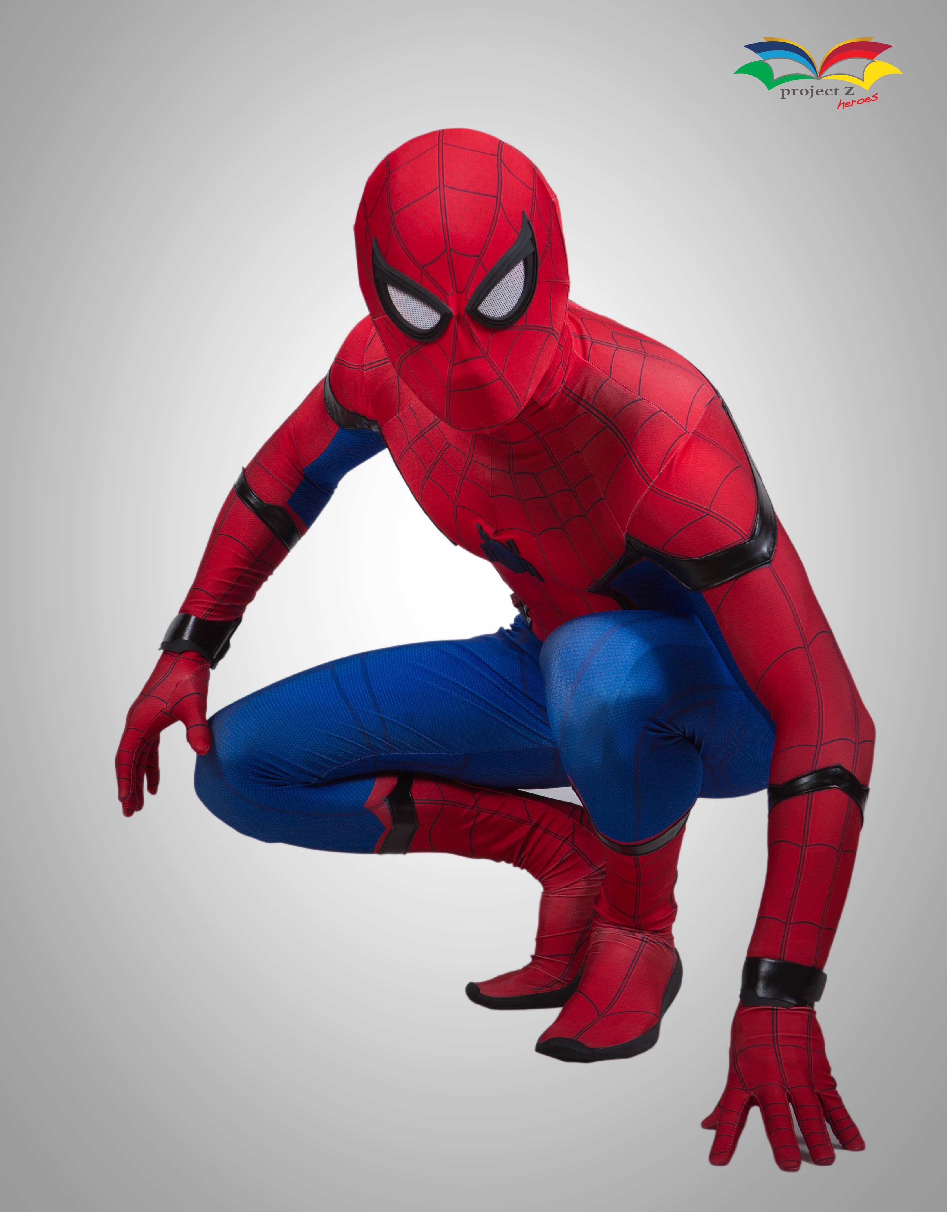 Spiderman homecoming costume sitting post