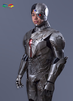 Cyborg costume front closeup