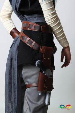 Rey Star War costume belt set closeup back