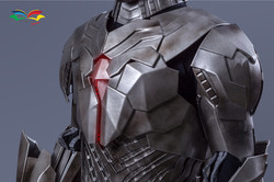 Cyborg costume chest closeup