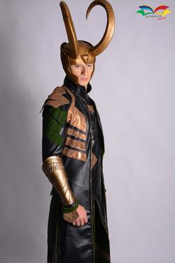 Loki costume closeup