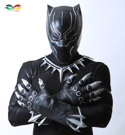 black panther costume closeup