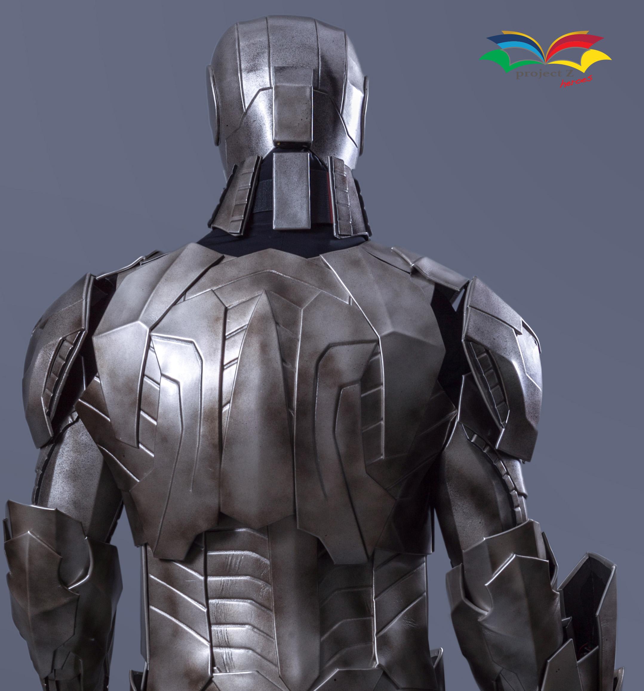 Cyborg costume backside closeup