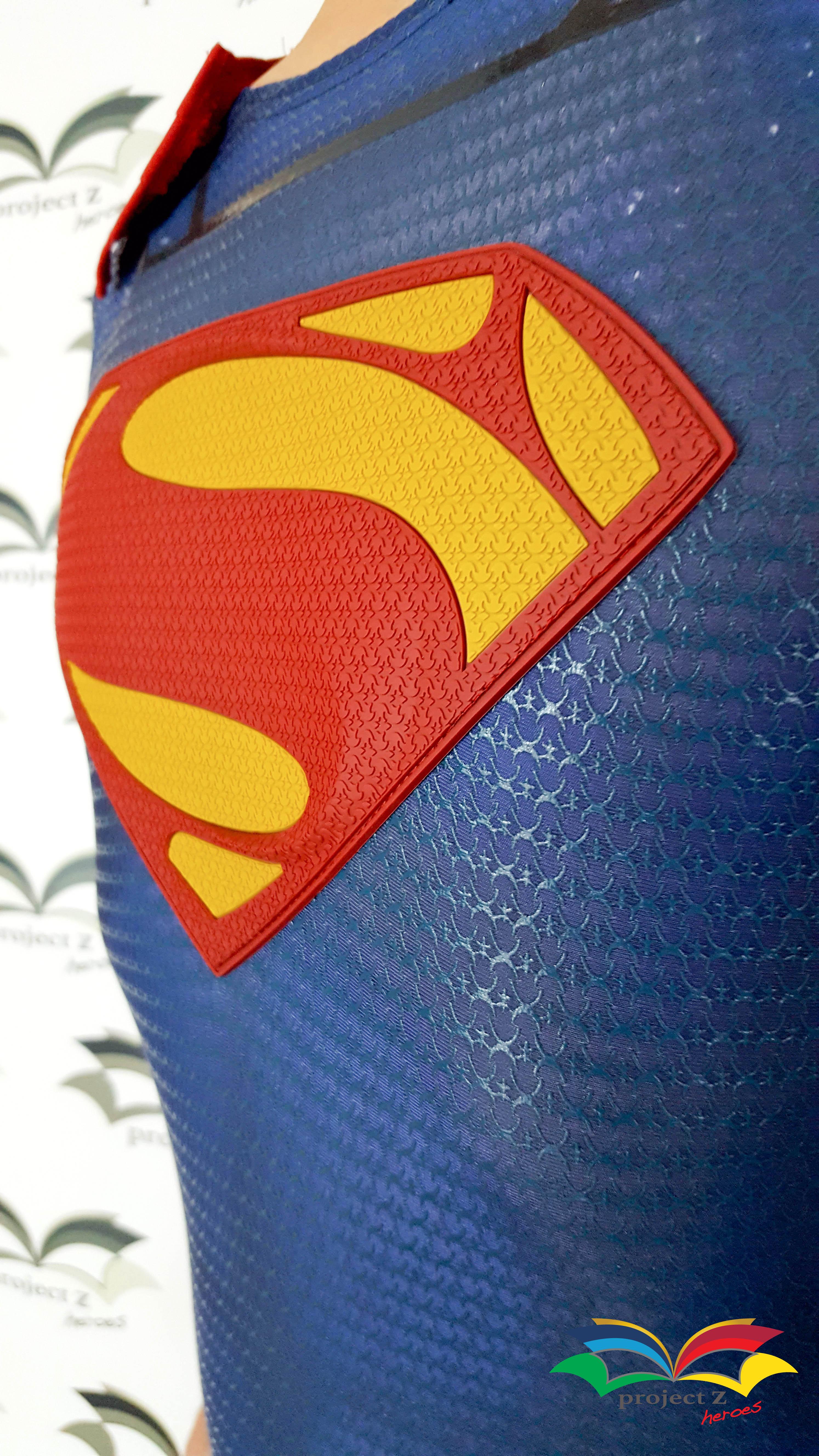 Superman costume chest logo closeup
