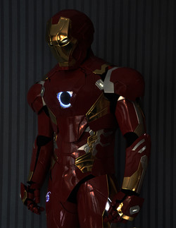 Ironman costum with light chest and eye