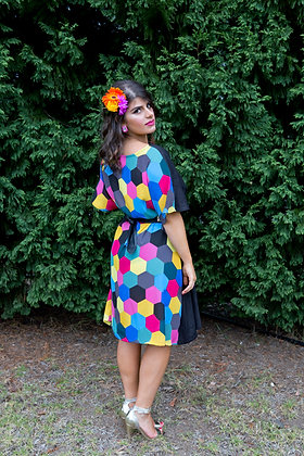 Festival Contrast Dress