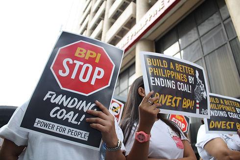 Protest against BPI Philippines