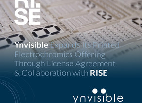 Ynvisible Expands Its Printed Electrochromics Offering Through License Agreement with RISE