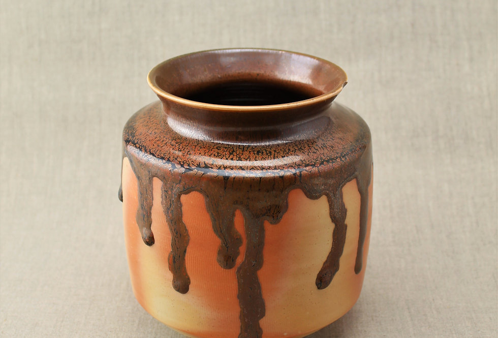Wood Fired Dripping Vase
