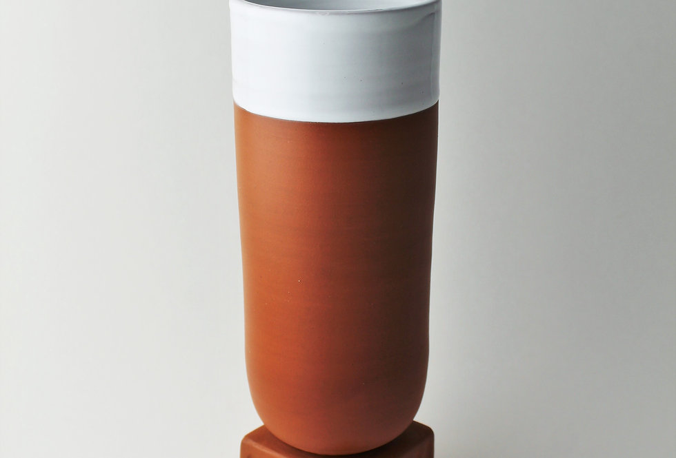 Vase with Square Pedestal
