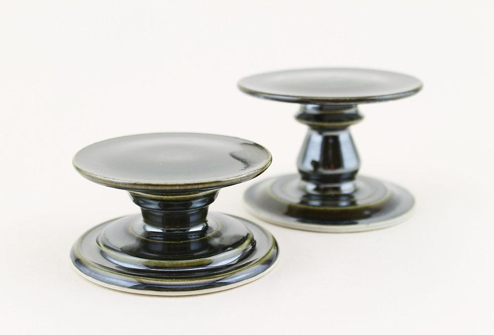 Set of Metallic Candle Holders