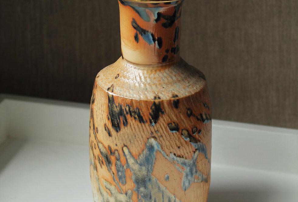 Wood Fired Vase with Splattered Glaze