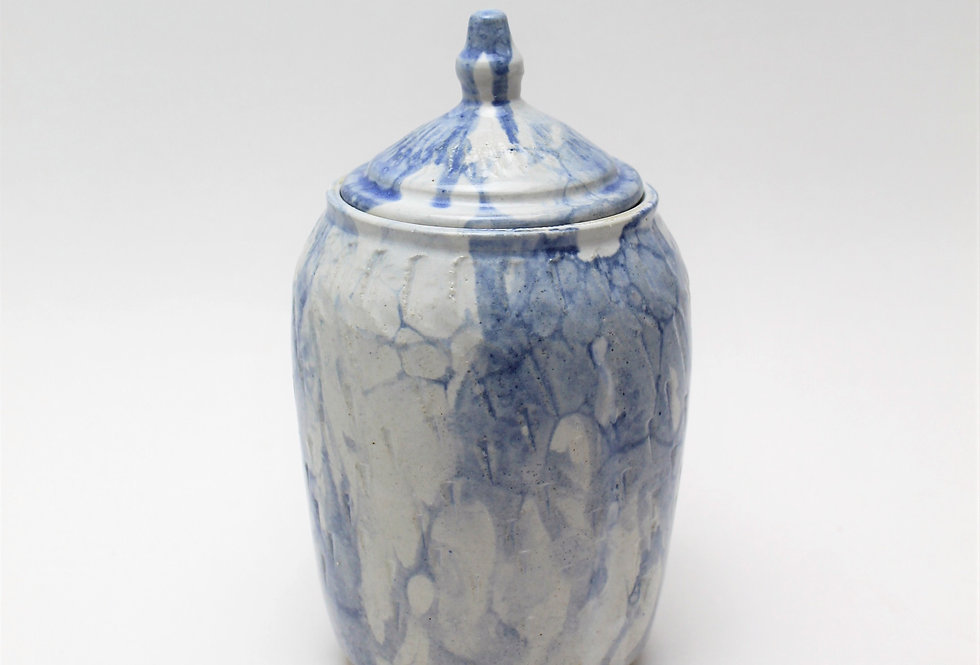 Bubble Glazed Jar