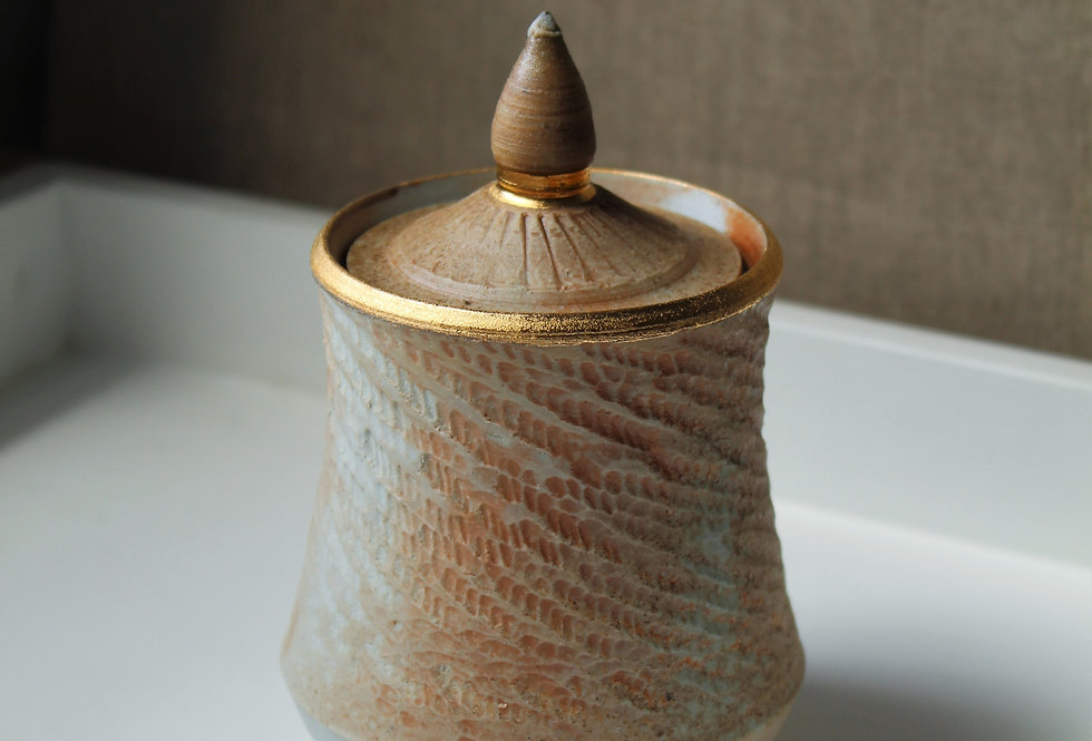Wood Fired Chattered Jar
