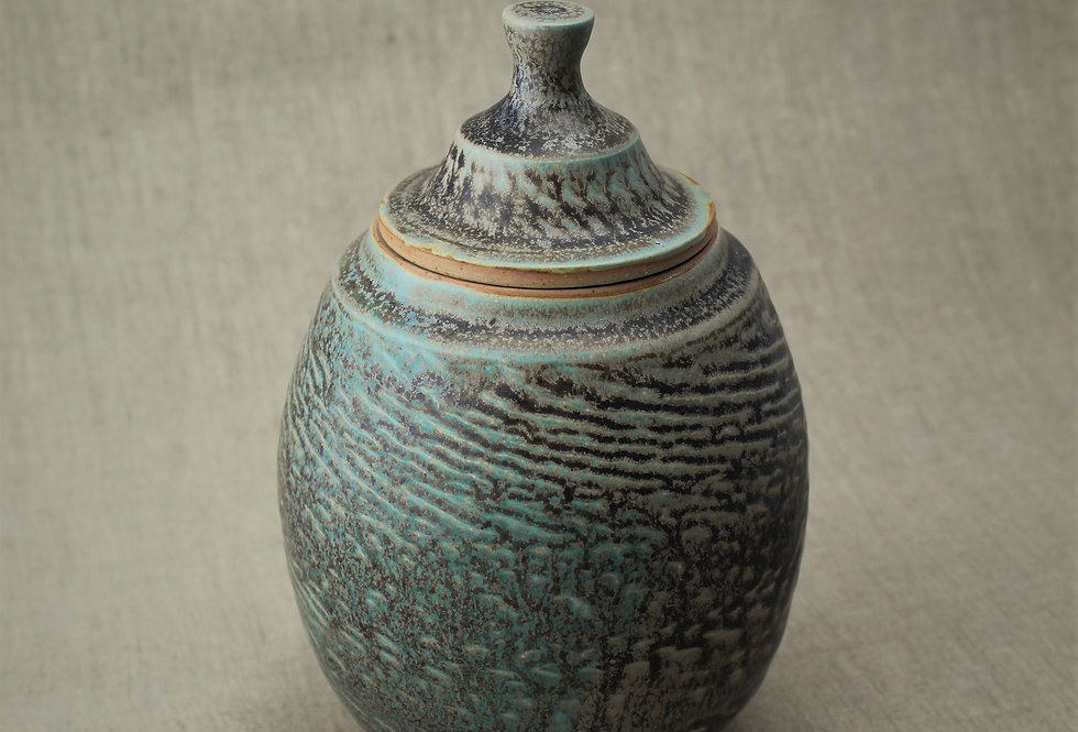 Chattered Stoneware Jar