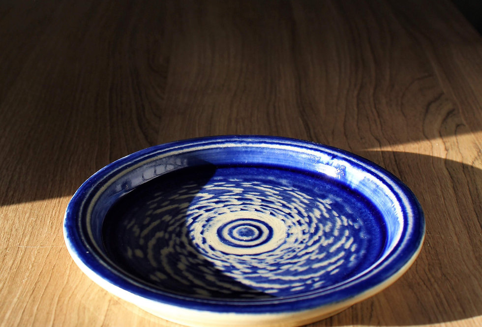 Blue Plate with Pattern