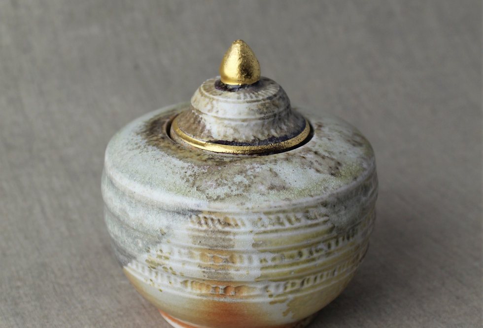 Wood Fired Jar with Band Design