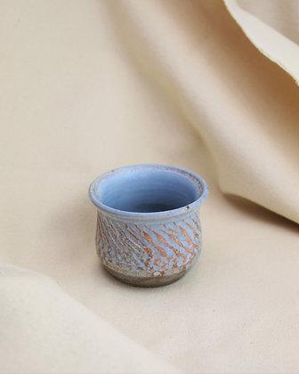 Wood Fired Blue Porcelain Succulent Planter