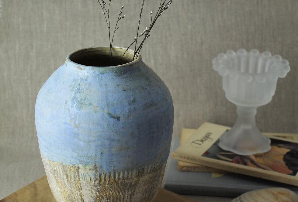 Blue and Tan Pot
