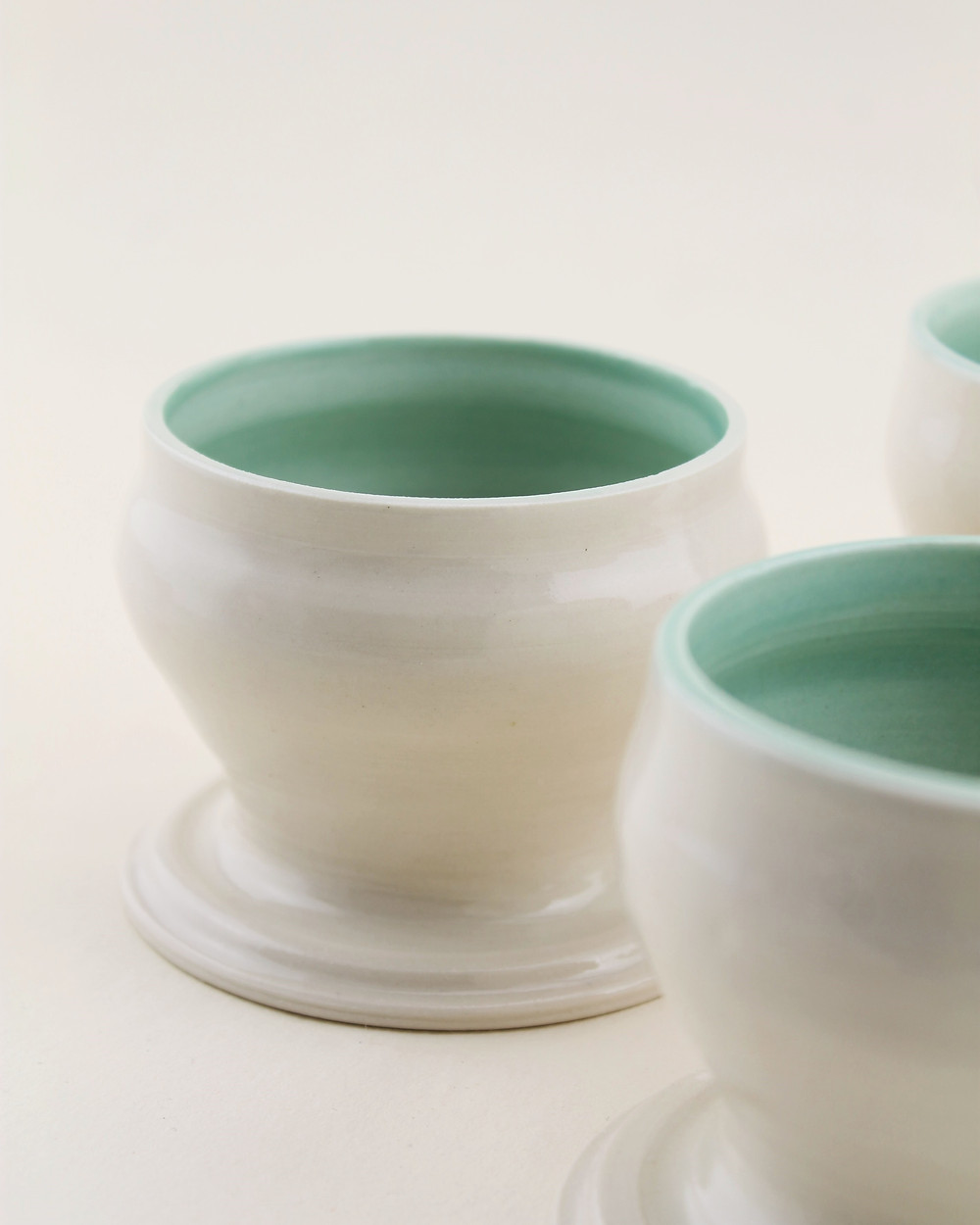 porcelain pottery with glaze