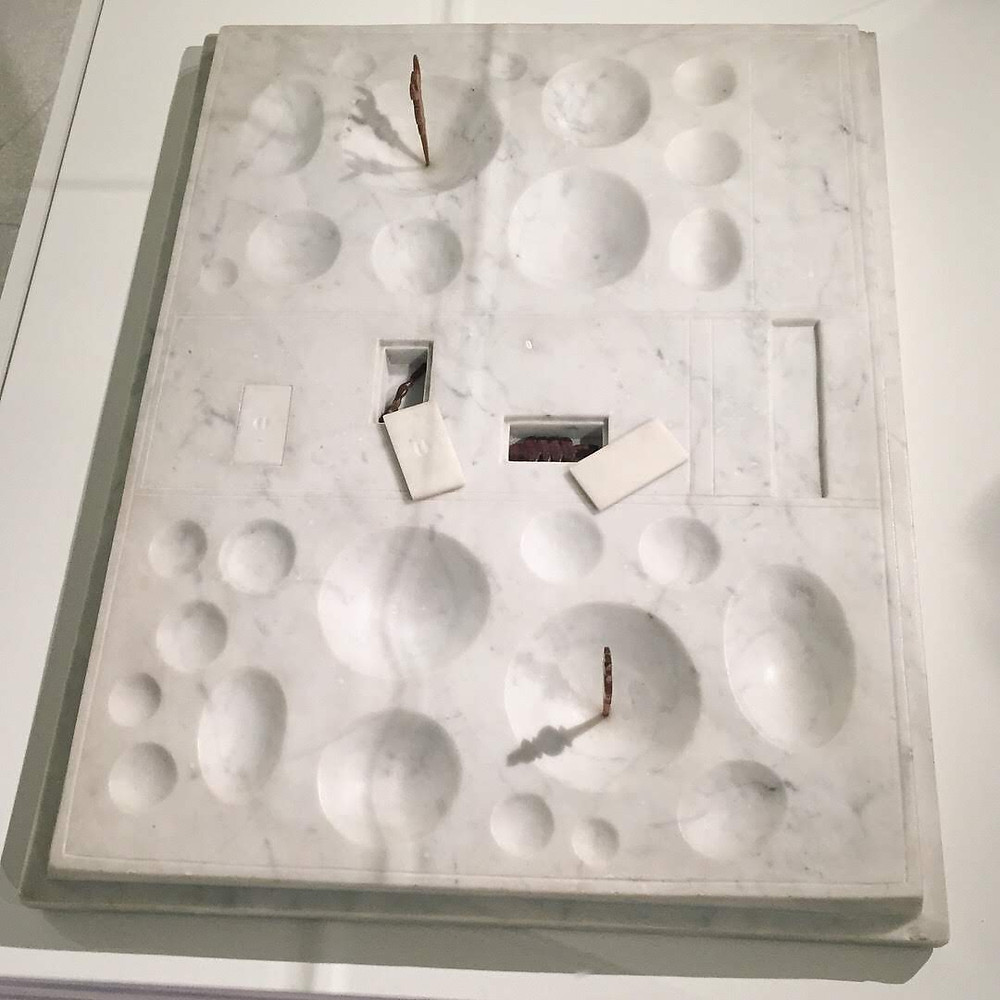 Giacometti marble sculpture at Guggenheim Museum