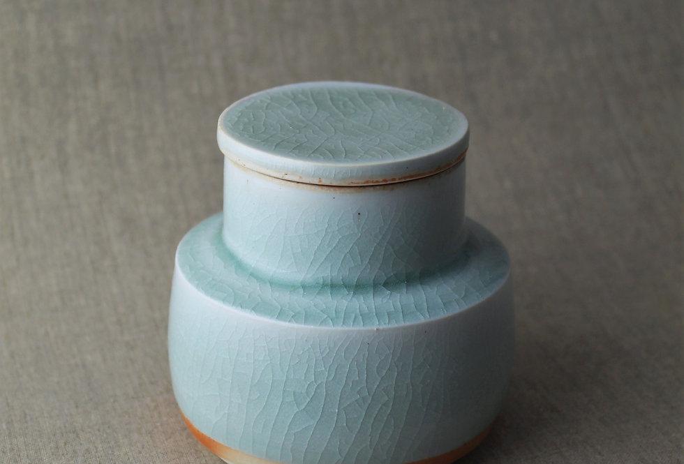 Wood Fired Celadon Jar