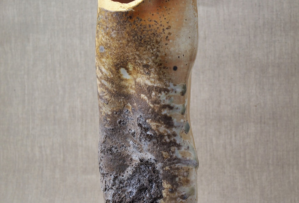 Heavy Ash Wood Fired Vase